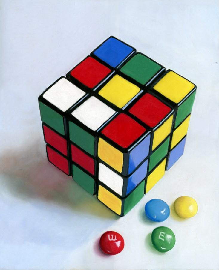 """""""Rubik's Cube"""" original fine art by Ria Hills"""