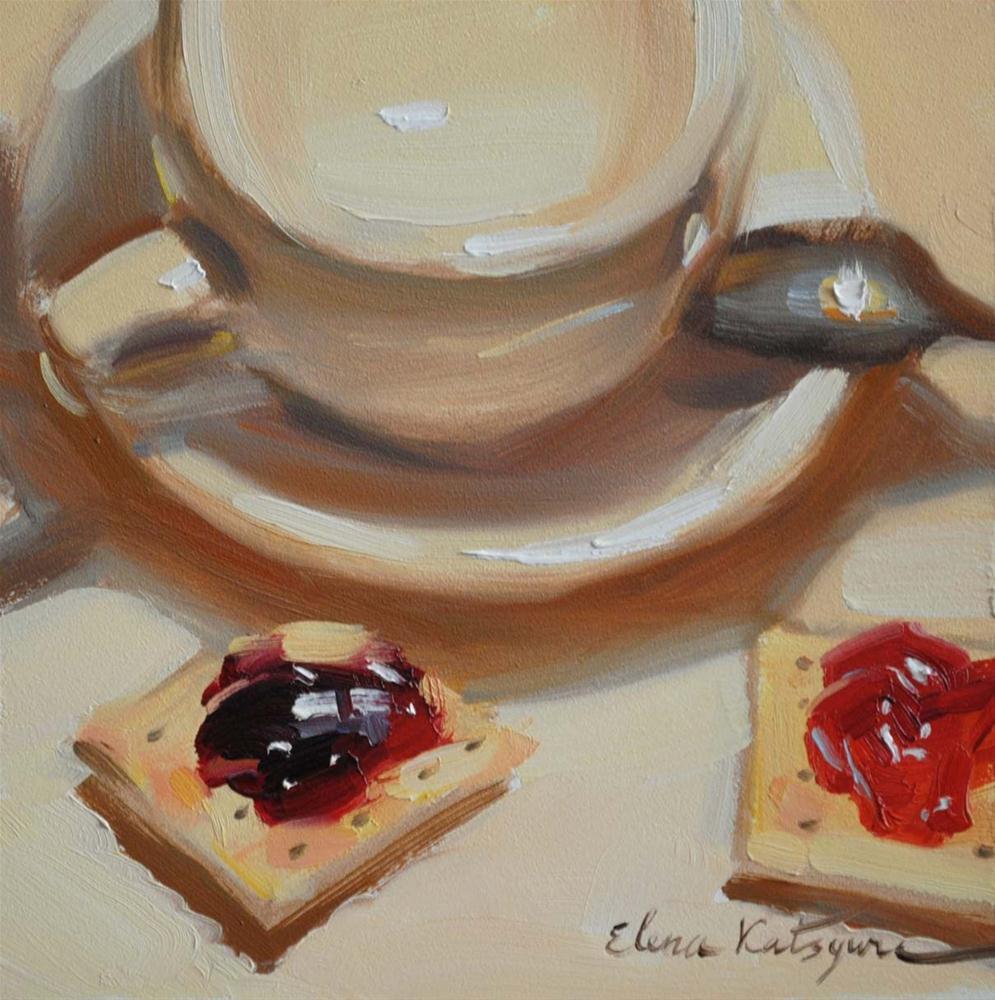 """""""Cherry & Blackberry"""" original fine art by Elena Katsyura"""