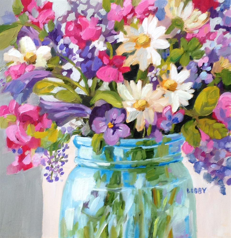 """""""Bright Blooms"""" original fine art by Libby Anderson"""