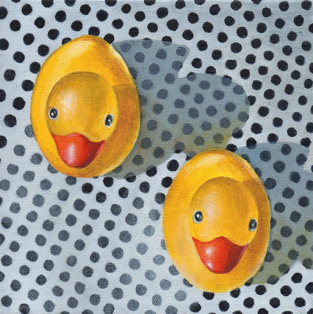 """Double Ducky"" original fine art by Debbie Shirley"
