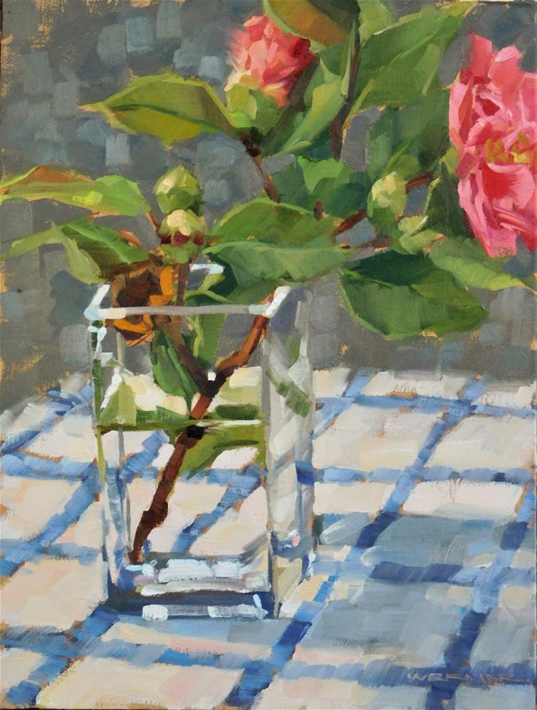 """""""Camelia Stages"""" original fine art by Karen Werner"""