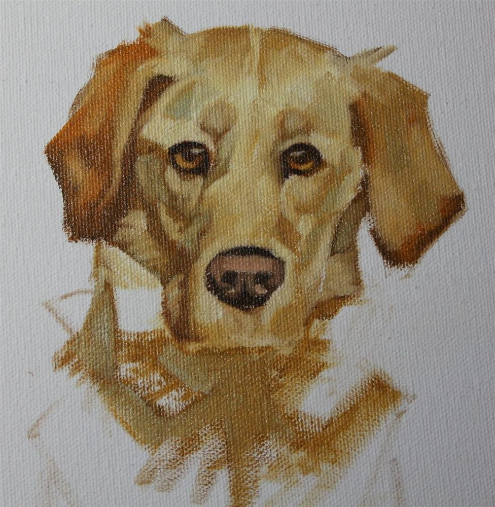"""Rescue Dog"" original fine art by Susan Ashmore"