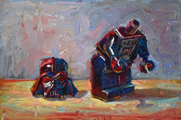 """LEGO Darth Loses His Head"" original fine art by Raymond Logan"