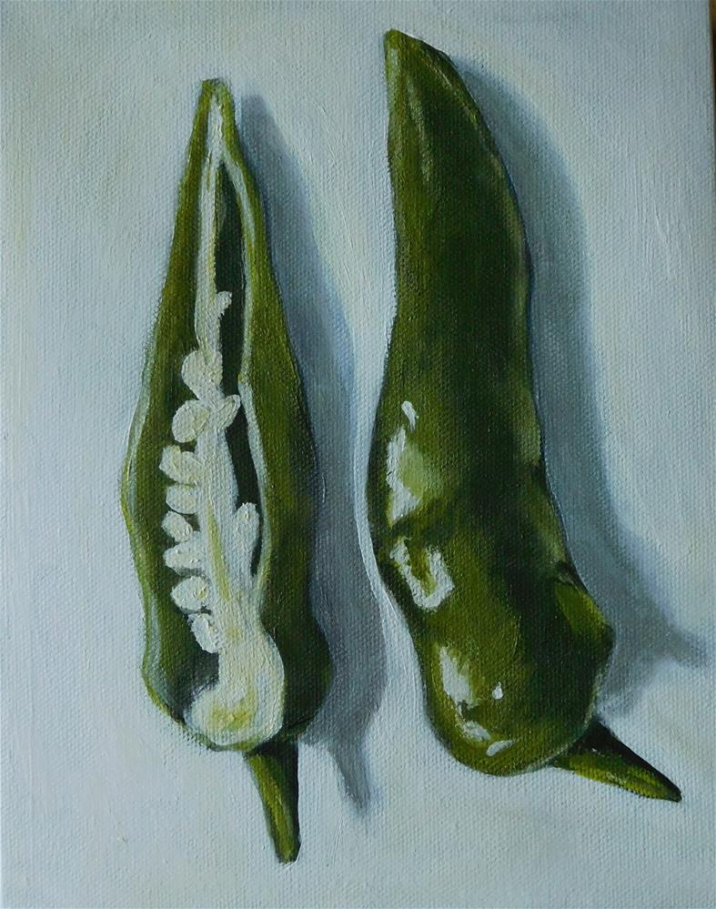 """""""Chilli Peppers"""" original fine art by Daryl West"""