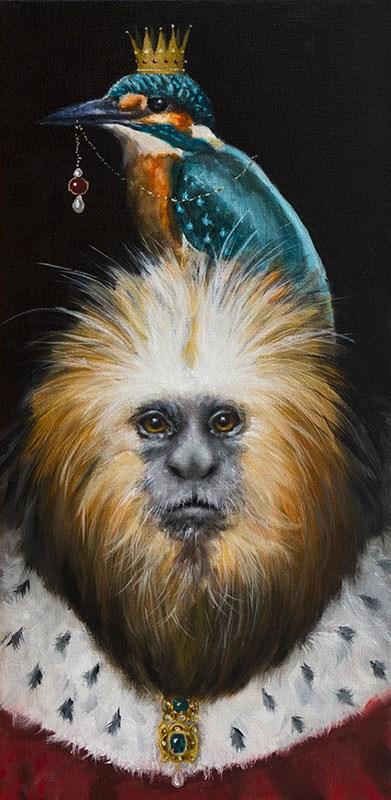 """""""The Tamarin King"""" original fine art by Clair Hartmann"""