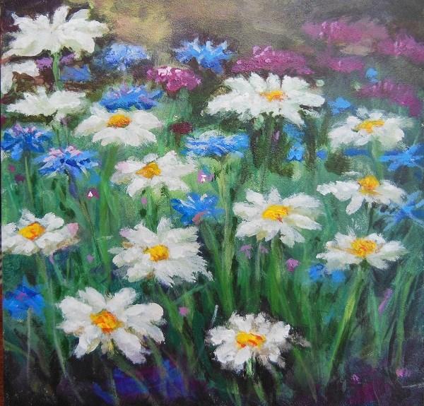 """""""Daisy Field"""" original fine art by wendy black"""