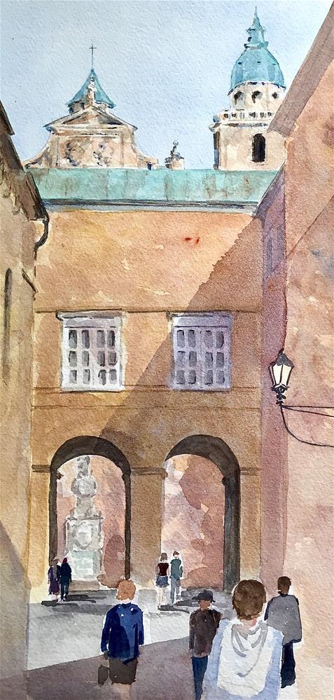 """""""View of Salzburg Cathedral"""" original fine art by Judith Freeman Clark"""