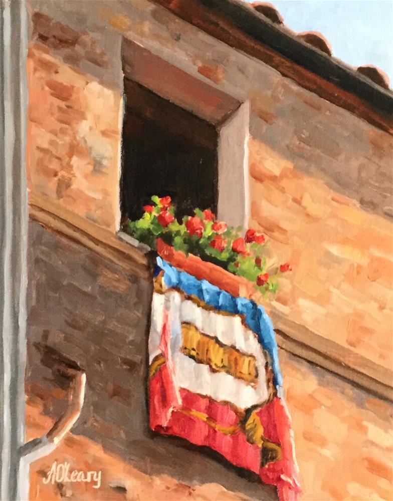 """""""Window Dressing"""" original fine art by Alice O'Leary"""
