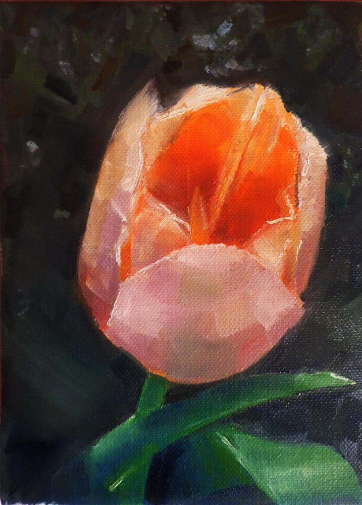 """Tulip"" original fine art by Maria Z."