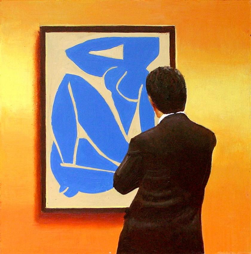 """Blue Nude- Painting Of Man Enjoying Painting By Henri Matisse"" original fine art by Gerard Boersma"