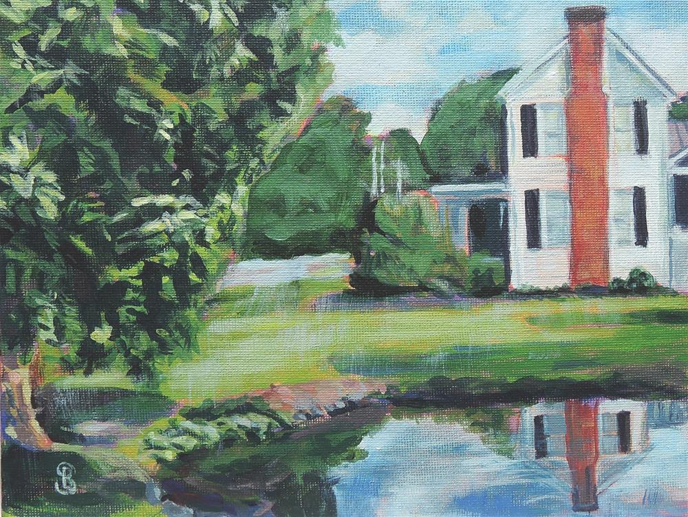 """""""Bircher Farm"""" original fine art by Belinda Scheber"""