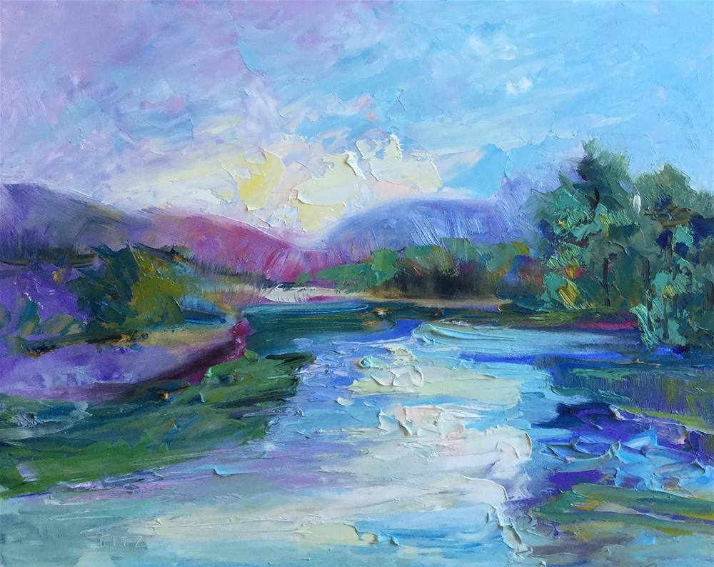"""Cool Water"" original fine art by Charlotte Fitzgerald"