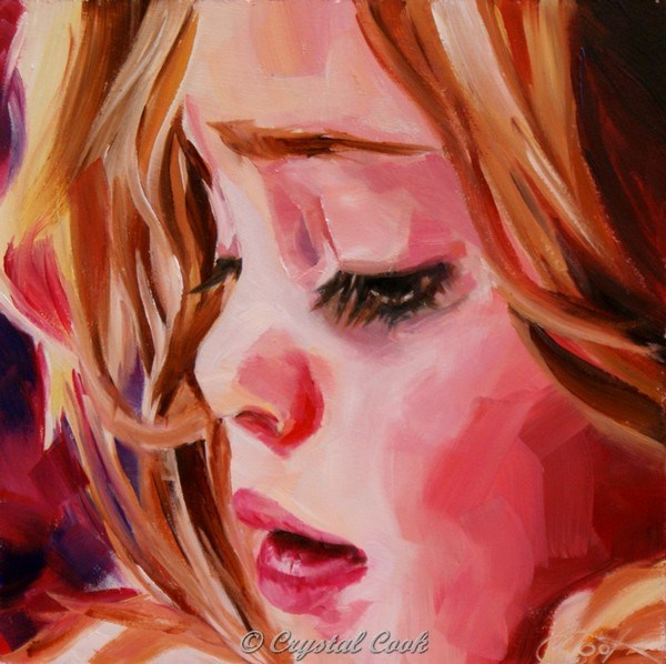 """Princess"" original fine art by Crystal Cook"
