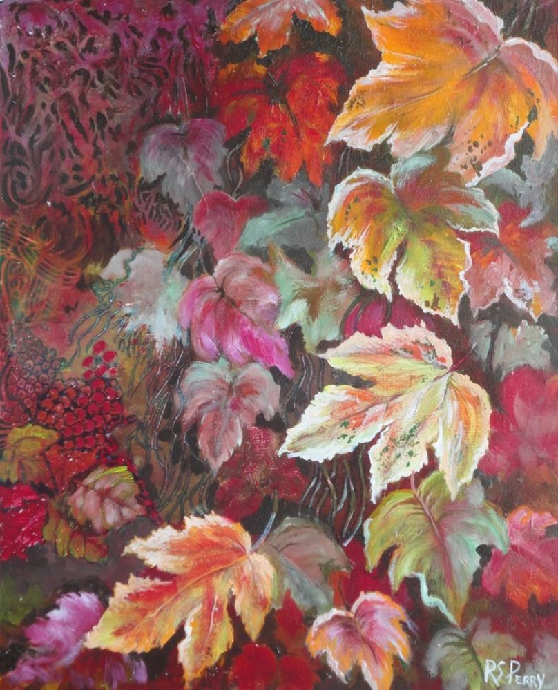 """Leaves"" original fine art by R. S. Perry"
