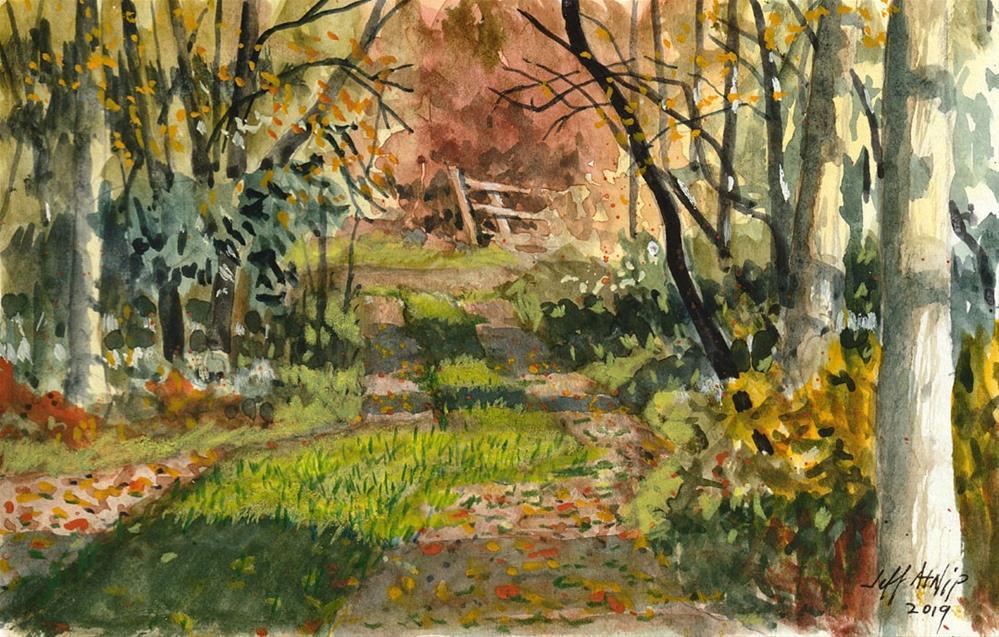 """Cabin View 2"" original fine art by Jeff Atnip"