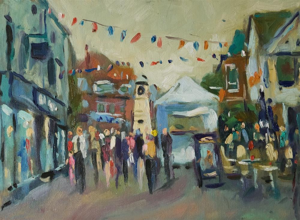 """""""Littlehampton Arts Fair"""" original fine art by Andre Pallat"""
