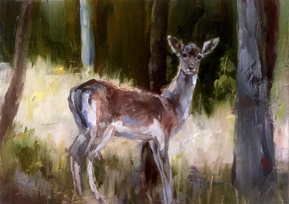 """""""Oh Deer!"""" original fine art by Gary Bruton"""