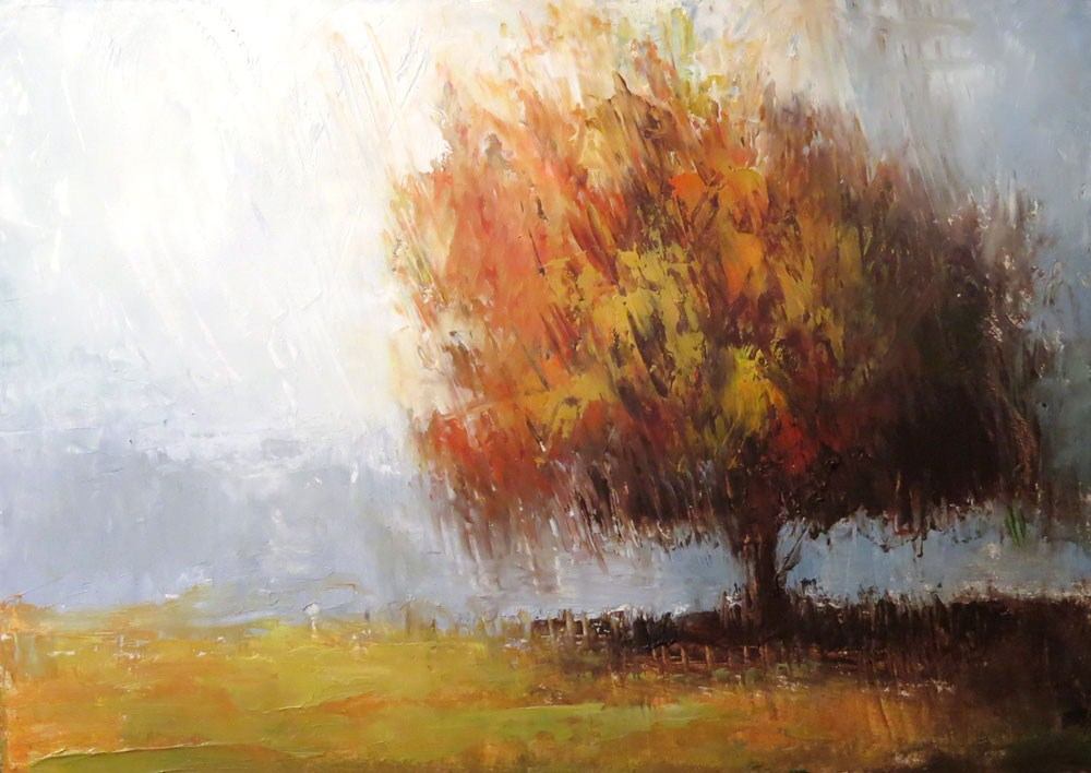 """""""Shady Tree"""" original fine art by Bob Kimball"""