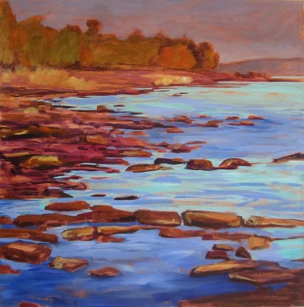 """Rocks, Georgian Bay"" original fine art by Nicki Ault"