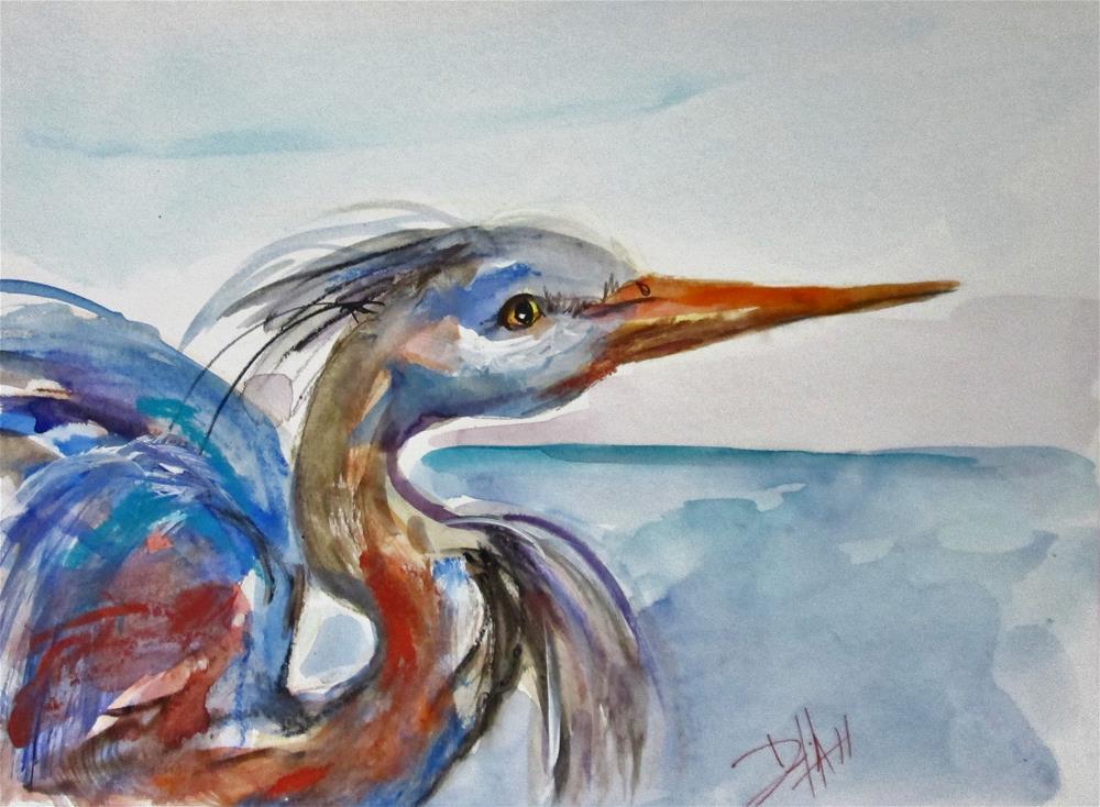 """Great Blue Heron"" original fine art by Delilah Smith"