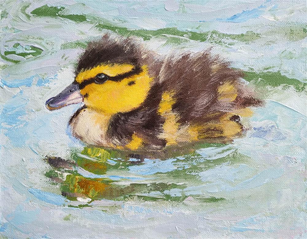 """Duckling"" original fine art by Iryna Khort"
