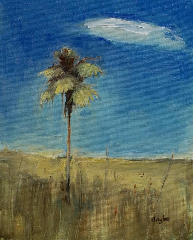 """Palm Tree in Grasslands"" original fine art by Angela Ooghe"