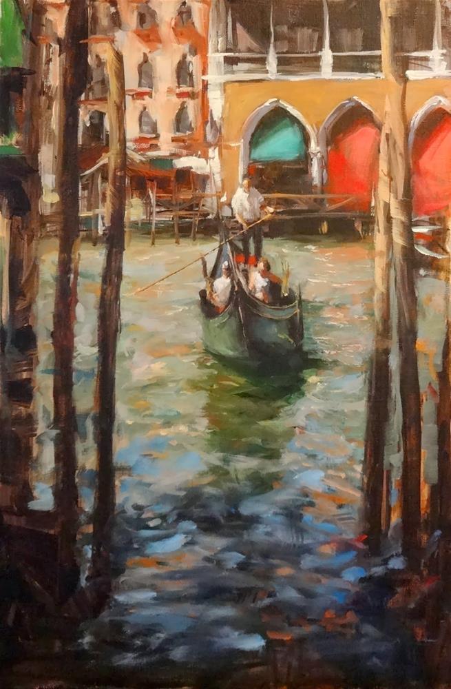 """""""Venice Canal III"""" original fine art by Jonelle Summerfield"""