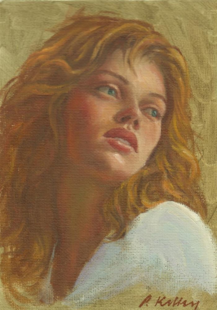"""Portrait of Alicia"" original fine art by Pat Kelley"