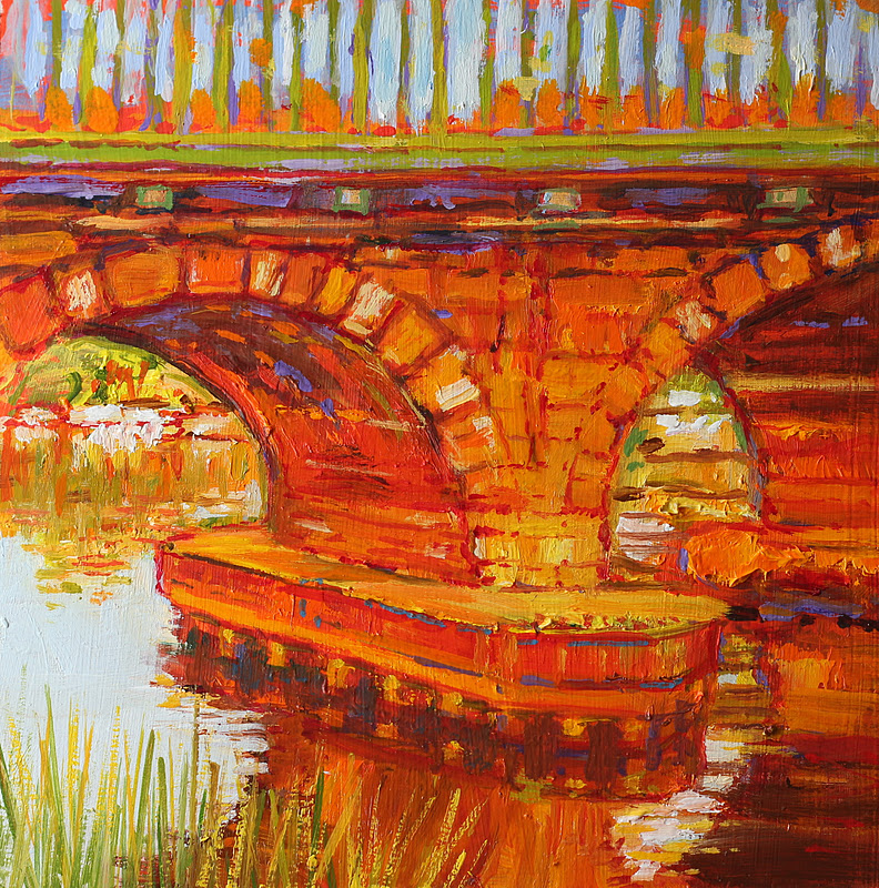 """Trent Bridge (Newark)"" original fine art by Ken Devine"