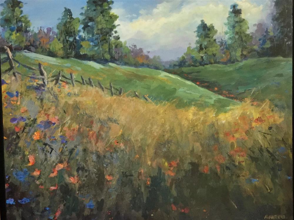 """""""Meadow Serenity"""" original fine art by Alice Harpel"""