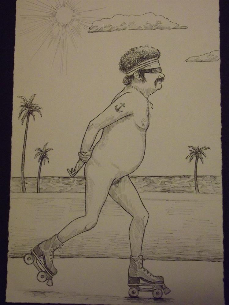 """""""An American Man, Nude, No. 44"""" original fine art by wanda sigafus"""