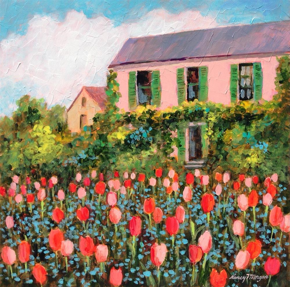 """Spring in Giverney"" original fine art by Nancy F. Morgan"