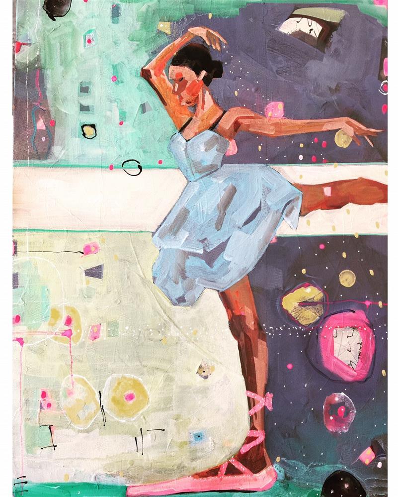 """""""444 Swan Song"""" original fine art by Jenny Doh"""
