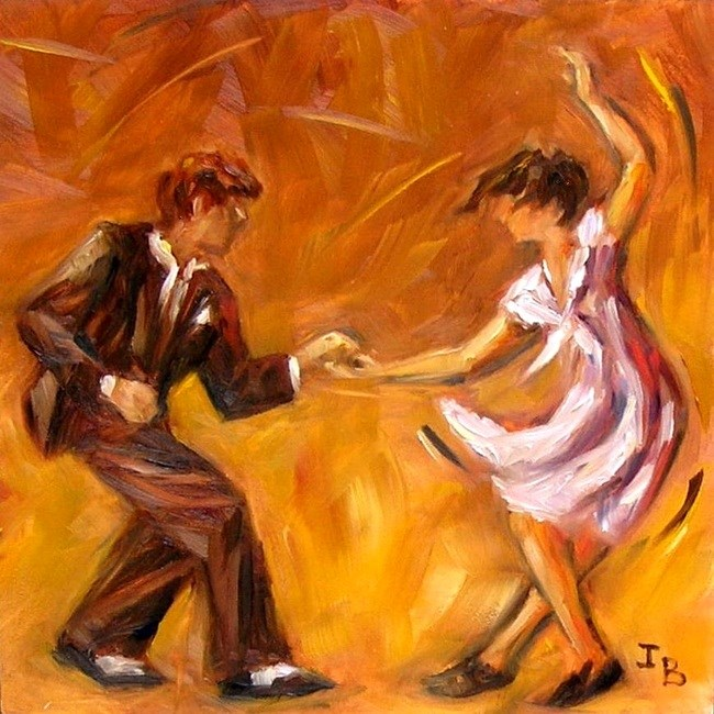 """Swing! - 2"" original fine art by Irina Beskina"