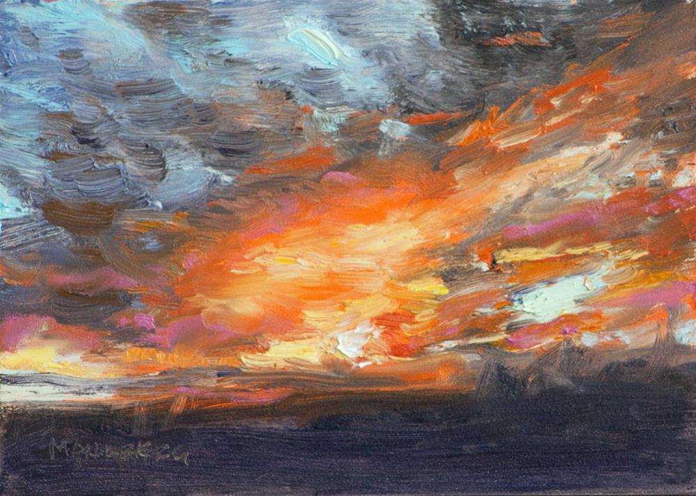 """Backyard Sunrise"" original fine art by Cynthia Mahlberg"