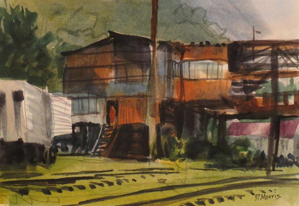 """Rusty Buildings"" original fine art by Dann Morris"