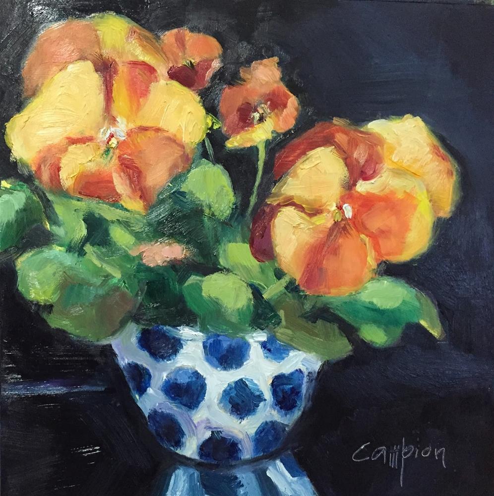 """774 Spring in a Bowl"" original fine art by Diane Campion"