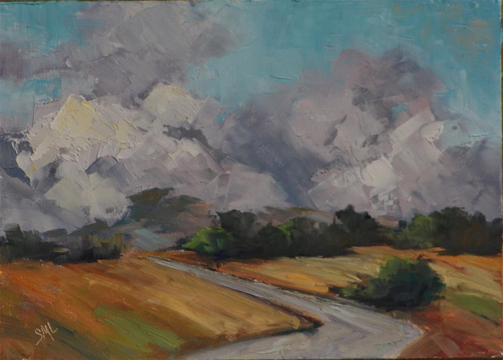 """""""Clouds Departing"""" original fine art by Sheila Marie"""