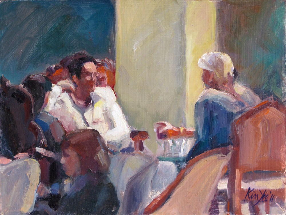 """Interlude at MONA"" original fine art by Myriam Kin-Yee"