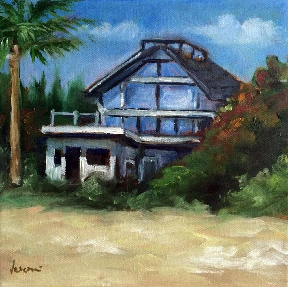 """The Beach House"" original fine art by Valerie Vescovi"