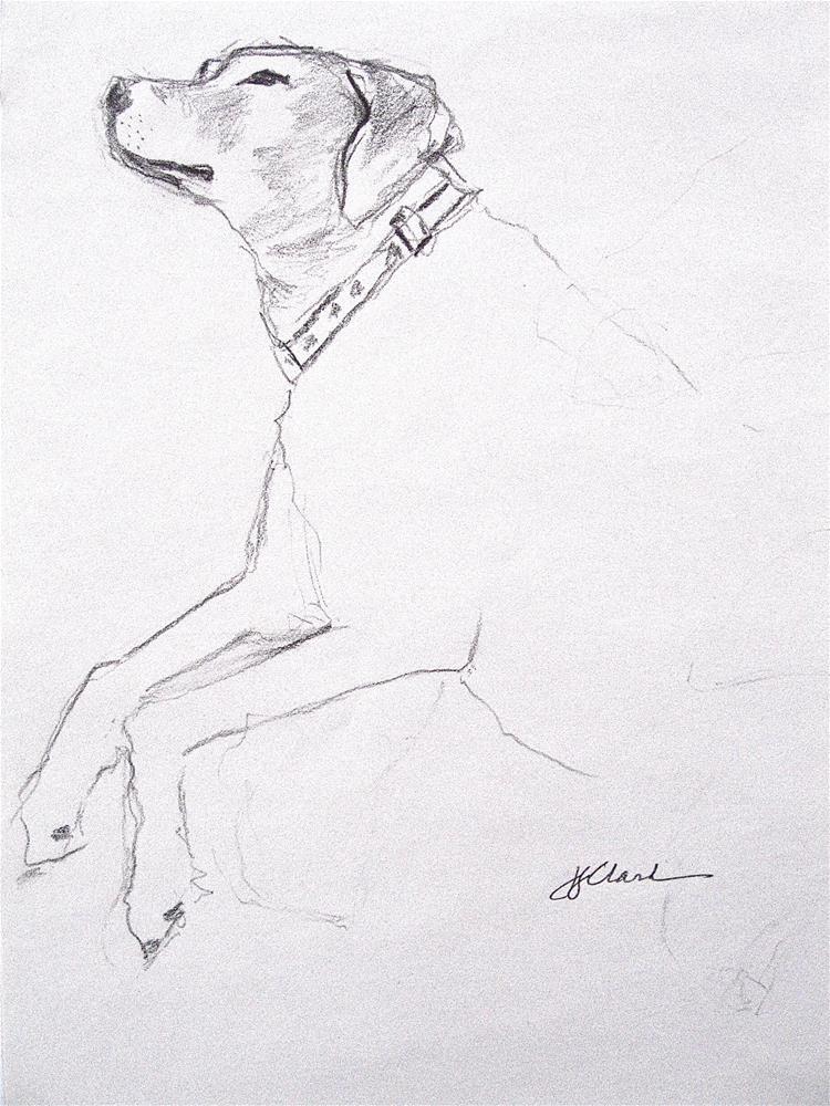 """Dream Dog, study"" original fine art by Judith Freeman Clark"