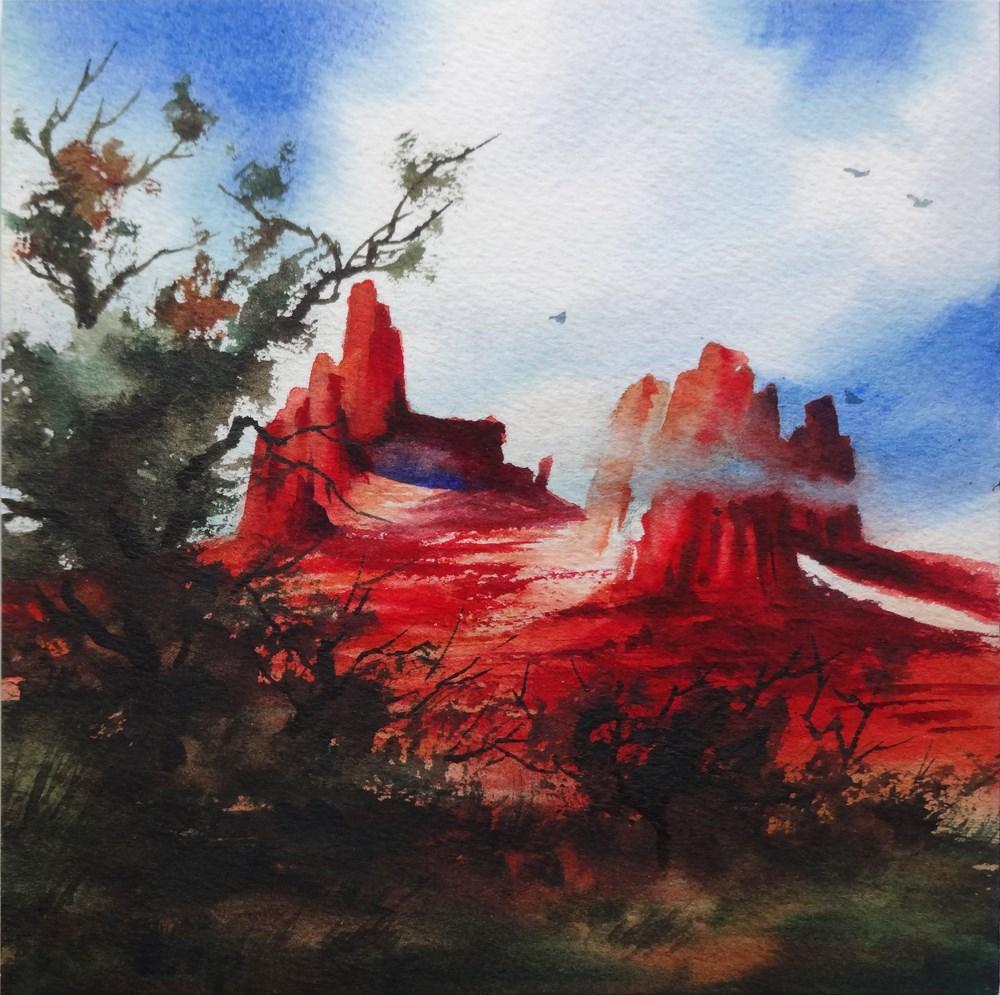 """Ancestor's Place"" original fine art by Arena Shawn"