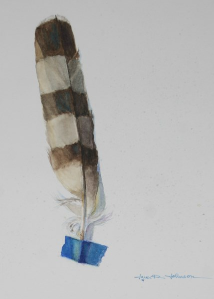 """Feather 3"" original fine art by Jana Johnson"