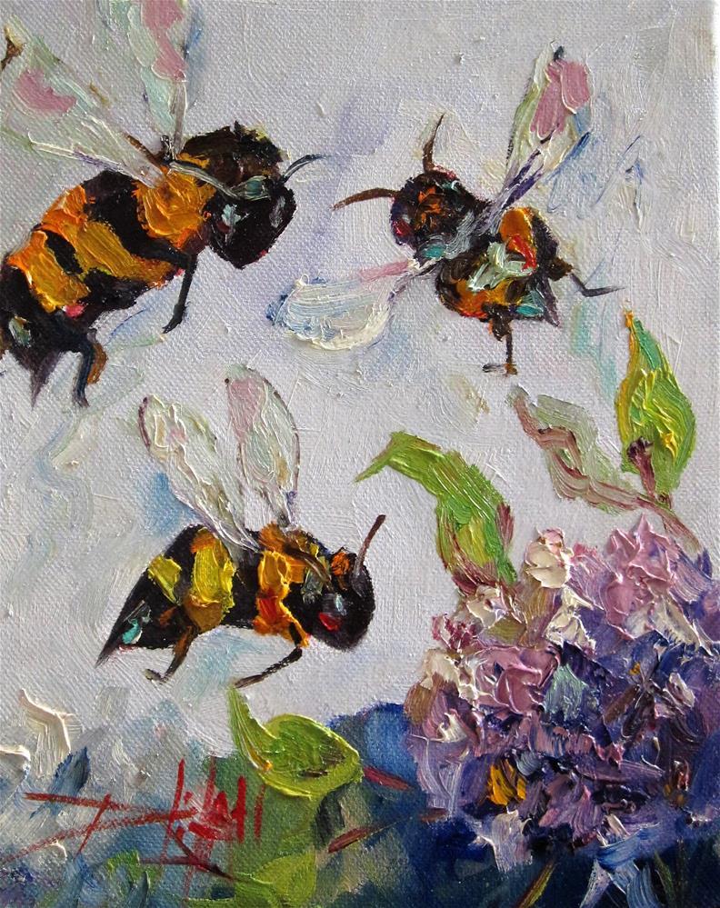 """Bees Knees No.8"" original fine art by Delilah Smith"