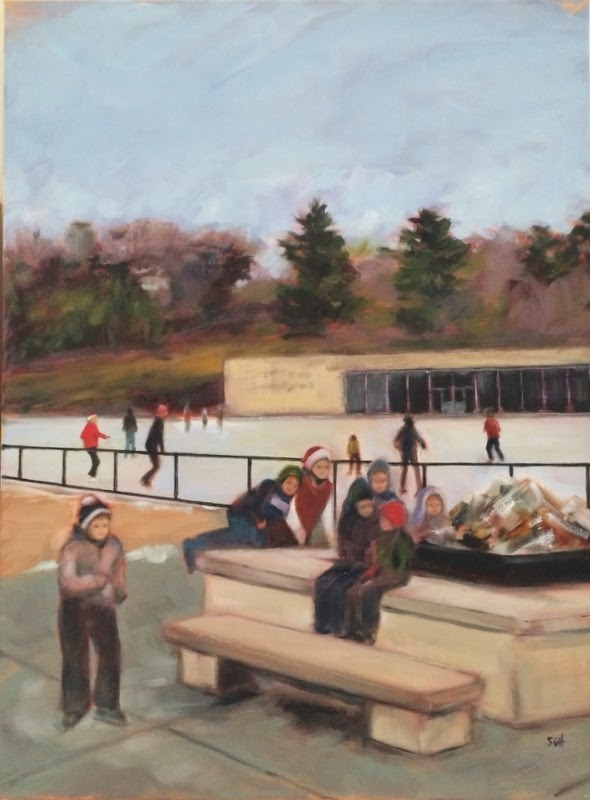 """I'm back...  Here's Steinberg......"" original fine art by Sandy Haynes"