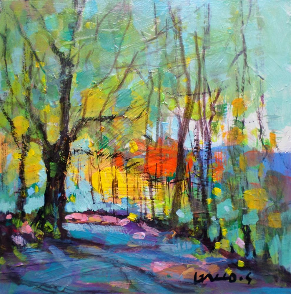 """Path in the forest"" original fine art by salvatore greco"