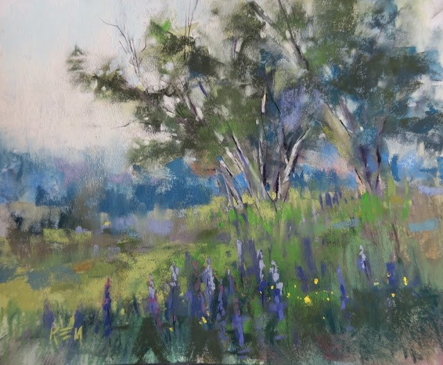 """""""Painting the Trees of Iceland"""" original fine art by Karen Margulis"""