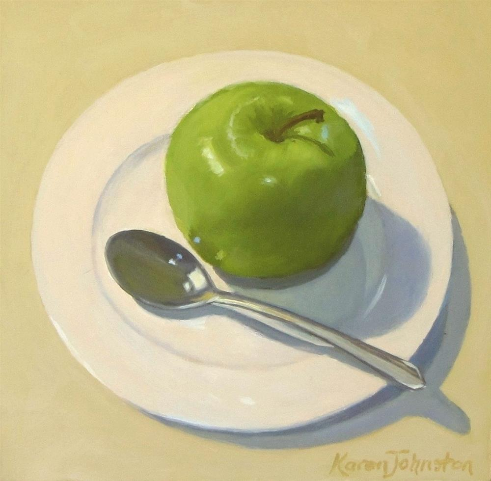 """Apple Sauce"" original fine art by Karen Johnston"