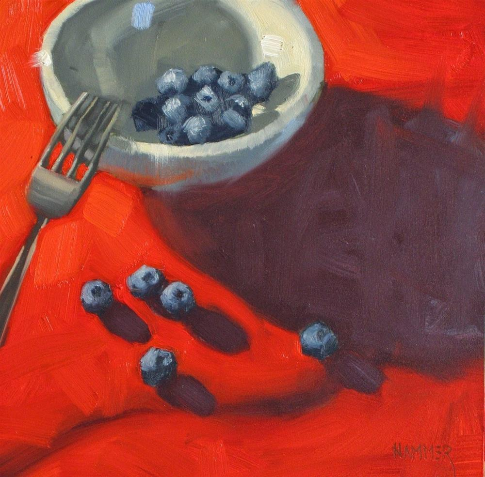 """""""Red, white and blueberries"""" original fine art by Claudia Hammer"""