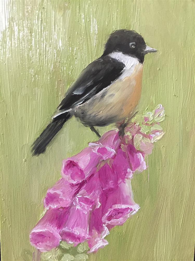 """Flower Power"" original fine art by Carole Chalmers"